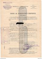 Ordre De Mobilisation Individuelle - Centre Mobilisateur De Cavalerie N° 41 - 29ème Dragon - 28 Aout 1939 - Dokumente