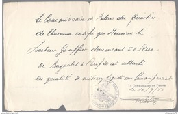 Attestation De Rattachement D'un Médecin Au Commissariat De Charonne En Temps Que Médecin Légiste 10/07 1943 - Dokumente