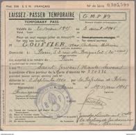 Laisser Passer Temporaire En Français Et Anglais - Trajet Entre Paris Et Saint Gervais - 20/03 Au 03/04 1945 - Documents