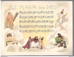 Publicité Laboratoire Le Brun - Partition Musicale Illustrée Par Jacques Touchet - Circa 1950 - Le Plaisir Des Dieux - Autres