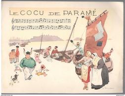 Publicité Laboratoire Le Brun - Partition Musicale Illustrée Par Jacques Touchet -Circa 1950- Le Cocu De Paramé - Publicité