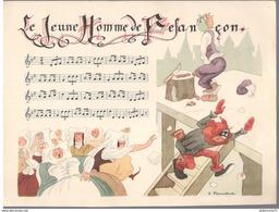 Publicité Laboratoire Le Brun - Partition Musicale Illustrée Par Jacques Touchet -Circa 1950- Le Jeune Homme De Besancon - Autres