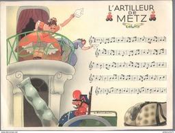 Publicité Laboratoire Le Brun - Partition Musicale Illustrée Par Jacques Touchet - Circa 1950 - L'artilleur De Metz - Autres