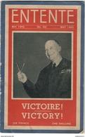 Revue Entente N°40 - Mai 1945 - Textes En Anglais Et Français - Nombreuses Photos - Libri, Riviste & Cataloghi