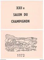 Lot De 2 Buvards - XXII ème Salon Du Champignon - 1972 - 2 X ( 13,5 X 20 Cm ) - Très Bon état - Blotters