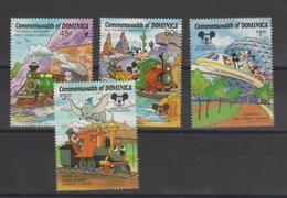 Disney Dominique Dominica 1987 Série 991-94 4 Val ** MNH - Disney