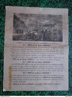 """Affiche """" Thé De La Soeur BOREL """" + BD Le Kangourou Boxeur Au Verso - Image D'Epinal - Format 24 X 32 Cm - Autres"""
