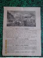 """Affiche """" Thé De La Soeur BOREL """" + BD Querelle D'aviateurs Au Verso - Image D'Epinal - Format 24 X 32 Cm - Other"""