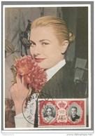 Carte Philathélique Grace Kelly - Timbres 2 F Sur Carte - 19 Avril 1956 - Non Circulée - Collections & Lots