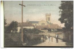 CPA - Chabons - Rue De L'Eglise - Circulé - Other Municipalities