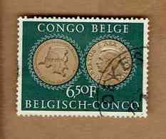 Congo Belge.(COB-OBP)  1954 - N°328    *25è ANNIVERSAIRE SE L'INSTITUT ROYAL COLONIAL*    6,50F   Oblitéré - 1947-60: Oblitérés