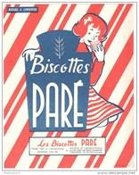 Buvard Biscottes Paré - Très Bon état - Biscottes
