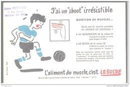 Buvard Le Sucre Aliment Du Muscle - J'ai Un Shoot Irrésistible - Tampon Pons à Montceau - Bon état - Sucreries & Gâteaux