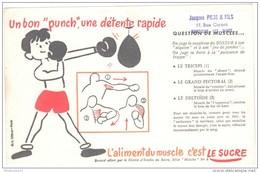 Buvard Le Sucre Aliment Du Muscle - Un Bon Punch, Une Détente Rapide - Tampon Pons à Montceau - Bon état - Sucreries & Gâteaux