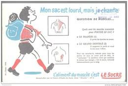 Buvard Le Sucre Aliment Du Muscle - Mon Sac Est Lourd Mais Je Chante - Tampon Pons à Montceau - Bon état - Cake & Candy
