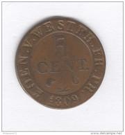 5 Centimes Allemagne Westphalie / Westphalia - Jérôme Bonaparte - 1809 - Otros
