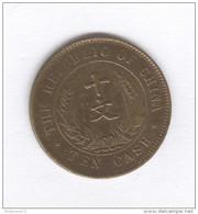 10 Cash Republique De Chine / République Of China 1912 TTB+ - Chine