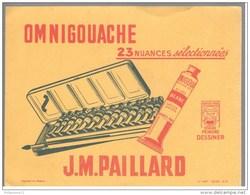 Buvard J.M. Paillard - Omnigouache - Très Bon état - Buvards, Protège-cahiers Illustrés