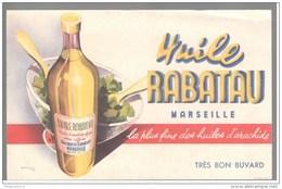 Buvard Huile Rabatau - Marseille - Très Bon état - Carte Assorbenti