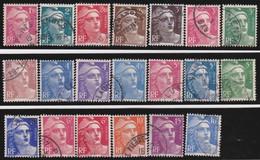 France   .   Yvert    .    712/724     .      O      .     Oblitéré - Used Stamps
