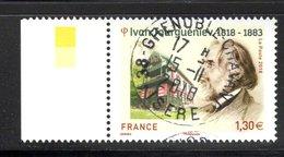 France 2018.Ivan Tourguénief.Cachet Rond Gomme D'origine. - France