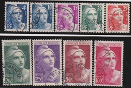 France   .   Yvert    .    725/733     .      O      .     Oblitéré - Used Stamps