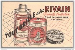 Buvard Tout Brille Avec Rivain - Chateau Gontier - Bon état - Buvards, Protège-cahiers Illustrés