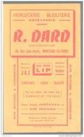 Buvard Dard Horloger Diplomé - Montceau Les Mines - Très Bon état - D