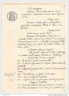 Acte Sous Seing Privé - Bail De 3 Mois Pour La Location Du Chateau De Garchizy ( Yonne ) 1904 - Manuscripts
