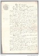 Acte Sous Seing Privé - Echange De Vignes - Aluze 1852 - Manuscripts
