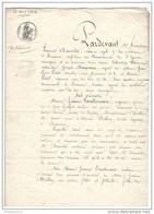 Acte Notarié Testament - Auxerre 1824 - Manuscripts
