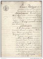 Acte Notarié - Vente De Vigne à Aluze ( Saône Et Loire ) 1835 - Manuscripts