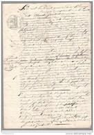 Acte Notarié - Vente De Vigne à Aluze ( Saône Et Loire ) 1840 - Manuscripts