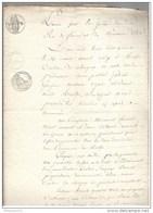 Acte Notarié - Vente D'un Pré à Aluze ( Saône Et Loire ) 1815 - Manuscripts