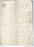 Acte Notarié - Vente De Batiments Et Vignes à Touche ( Aujourd'hui Mercurey ) 1810 - Manuscripts