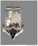 Insigne 2ème RIMa - Drago Paris - Dos Guilloché - Marine