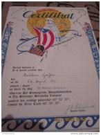 """Certficat De Passage Du Cercle Pôlaire - 8 Aout 1956 - Navire Norvégien """"Sanct Svithum"""" - Diplômes & Bulletins Scolaires"""