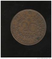 20 Réis Açores - Colonie Portugaise - 1865 TTB - Portugal