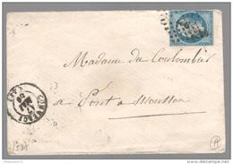 Marcophilie - Enveloppe Commercy Pour Pont à Mousson - 1859 - Cachetée - 1853-1860 Napoleon III