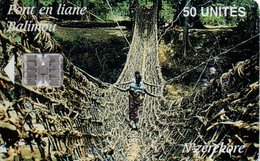 Télécarte à Puce Guinée Pont En Liane Balinou Bridge Phonecard  G474 - Guinea