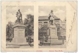 CPA Carte Nuage - Anvers - Statue Van Dyck - Circulée 1900 - Belgique