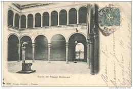 CPA Carte Nuage - Bologna - Cortile Del Palazzo Bevilacqua - Circulée 1900 - Italie