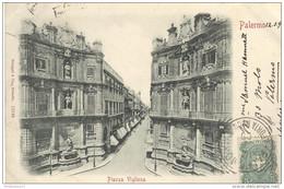 CPA Carte Nuage - Palermo - Plazza Vigliena - Circulée 1900 - Italie