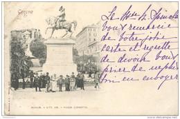 CPA Carte Nuage - Genova - Piazza Corvetto - Circulée 1899 - Italie