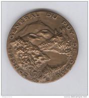 Médaille Conseil Général Du Puy De Dôme - 1982 - Très Bon état - Professionals / Firms