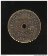 Jeton Du Tramway Municipal De Turin - Trajet A Du Tarif De Aout 1920 - Très Bon état - Professionals/Firms
