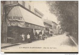 CPA La Roque D'Anthéron - Vue Du Cours -  Circulée - Autres Communes