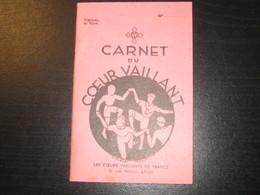 8219- 2018   SCOUTISME CARNET DU COEUR VAILLANT VIERGE IMPRIME EN 1938 - Scoutisme