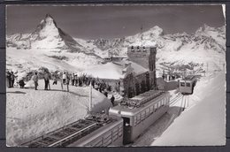SWITZERLAND  , ZERMATT ,  RAILWAY   ,  OLD POSTCARD , RARE - VS Valais