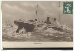 CPA Navire La Provence - Circulée 1914 - Ships